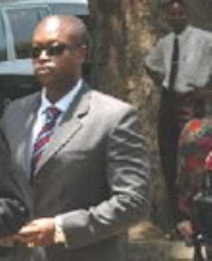 ACP Kofi Boakye  arrives at the Georgina Wood's Committee.pics courtesy,mjol