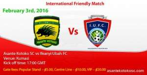 Kotoko pull out of international friendly against Nigerian side Ifeanyi Ubah