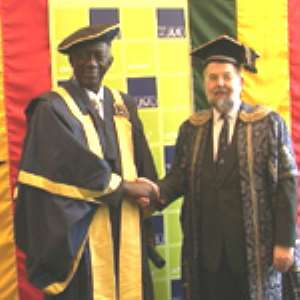 UK University Confers Honorary Fellowship On President Kufuor