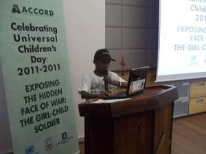 11 YEARS OLD ANDREW SHAKES AFRICA IN PRETORIA ON UN CHILDREN'S DAY