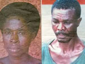 Dinah Akua Brakoa - The Woman at the centre of the tragedy and Joseph Tawiah Obeng the alleged murderer