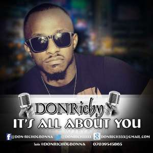 "Don Richy Drops New Single Titled ""IT'S ALL ABOUT YOU"""