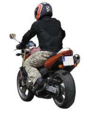 Man on motor-bike