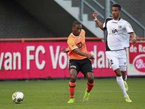 Marcel Appiah: Ghanaian defender limps off the pitch in NEC Nijmegen Dutch Cup triumph