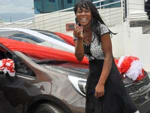 Regina Ampofo in a pose after the presentation