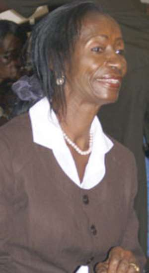 Minister of Environment, Science and Technology, Ms. Sherry Ayittey