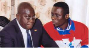 Nana Akufo-Addo and Mr. Kobby Annan, Chairman of the NPP-Holland branch.