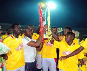during the MTN FA Cup Final at the Accra Sports Stadium in Accra, Ghana in 2011