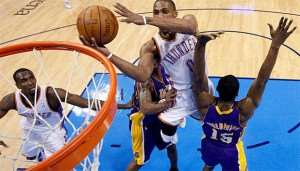 NBA : Thunder beats LA Lakers (122-105)