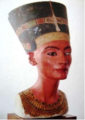 Nefertiti, Egypt now in Neues Museum, Berlin, Germany.