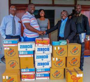 The Medical Director of the Tema General Hospital, Dr. Kwabena Opoku Adusei, expressed his appreciation to the management of B5 Plus for the donation.