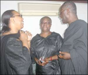 The Attorney-General Betty Mould Iddrisu and other family members at Mr Appenteng-Mensah's one week celebration