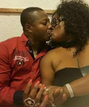 Mercy Asiedu Shares Passionate Kisses With Husband