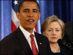 Barac Obama and Hillary Clinton