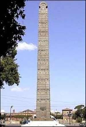 Obelisk from Axum was in Rome for decades before returning home.