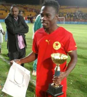 Agent to ask GFA to nominate Augustine Okrah's  'rabona goal' for 2016 FIFA Puskás Award