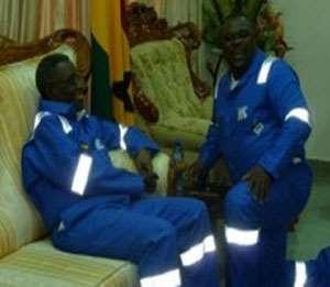 President Atta Mills with Koku Anyidoho