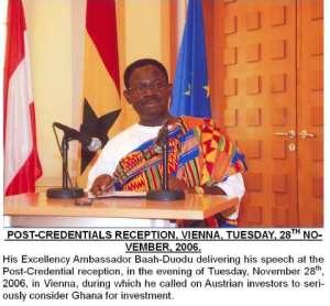 GHANA'S ENVOY PRESENTS CREDENTIALS IN AUSTRIA