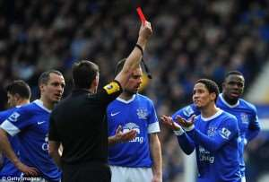 England : The South African Pienaar sees red!