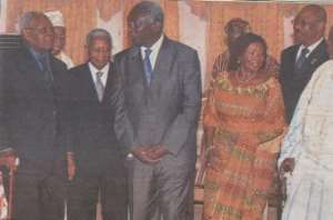 President Kufour poses with some of the members of Council of State