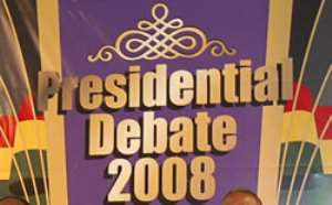 The Presidential Debate was under the theme: Strengthening the Pillars of Ghana s Democracy