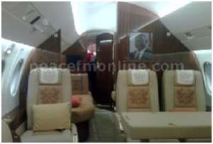 The new(Kufuor's) presidential Jet is ready to fly.