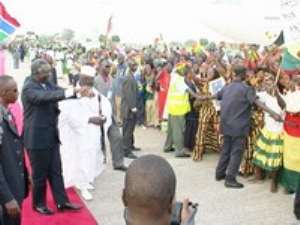 Big Welcome For President In Banjul