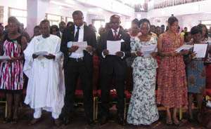 A section of the students at the matriculation ceremony