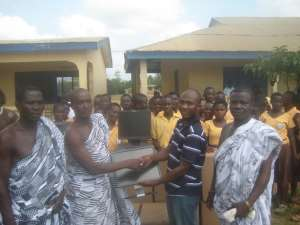 AIR DONATES 50 COMPUTERS IN GOMOA EAST