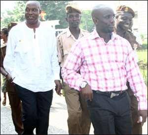 Kwabena Amaning, alias Tagor (R) and  Alhaji Abass