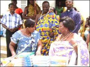 Queenmother donates books to Teshie Presec