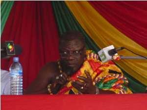 Daasebre Kwebu Ewusi VII Addressing The Gathering