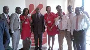 The Kenpong team poses with Kwesi Nyantakyi and other officials