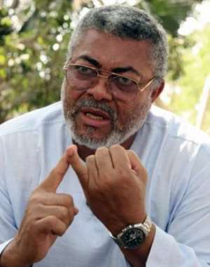 The former president of Ghana, retired Flt Lt. John Jerry Rawlings
