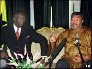 Kufuor acknowledges roles of Rawlings, others