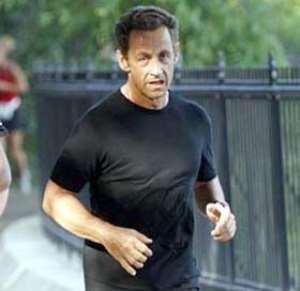 French President Nicolas Sarkozy is a regular runner