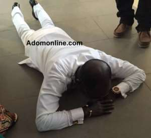Photos: Amakye Dede thanks God after fatal accident