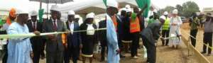 Minister cuts sod for Lands Commission Office
