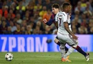 Social media turns on Boateng after Messi slip