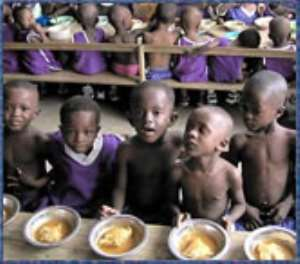 Record accurate expenditure on school feeding.
