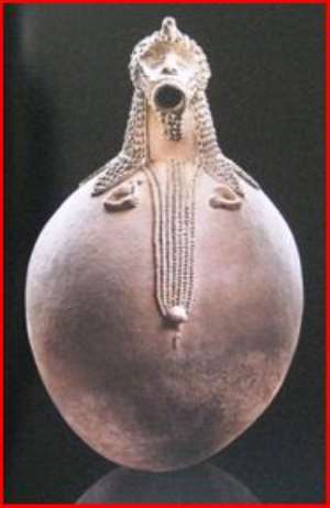 Spirit vessel Mbirhlen nda, Ga anda, Nigeria, now in Barbier-Mueller Museum, Geneva, Switzerland.