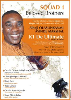 Fuji Legend 'King Wasiu Ayinde Marshal' Turns 55