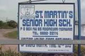 St Martins SHS undertakes cleanup exercise at Adoagyiri-Nsawam