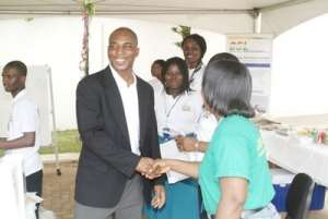 Mr Bawa in a dicussion with one of the invitees