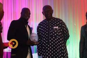 Ex-Black Stars captain Stephen Appiah and J.A Kuffuor