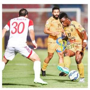 Sumaila in action on Tuesday for Al Qadsia