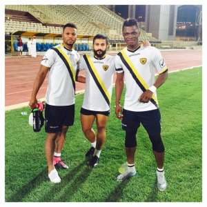 Sumaila in final training session with his Al Qadsia teammates ahead of Tuesday's game