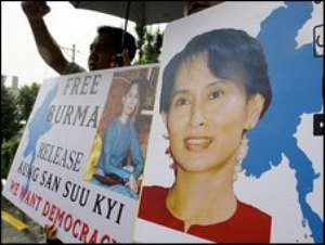 There have been international calls for Ms Suu Kyi's release