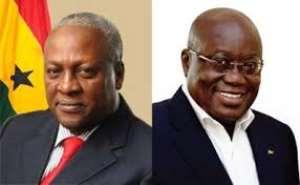 President John Dramani Mahama and Nana Addo