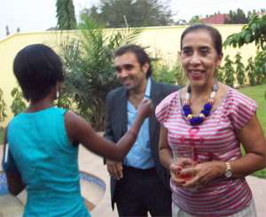 Brazilian Ambassador, Ms. Gala (right) at the send-off party